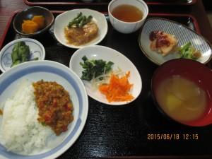 2015年6月18日のお昼ご飯写真